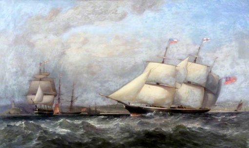 Shipping off Oystermouth | William Adolphus Knell | Oil Painting