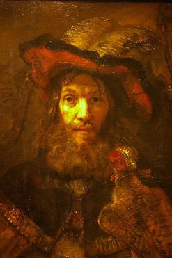 Man with a Falcon on His Wrist | Rembrandt van Rijn | Oil Painting