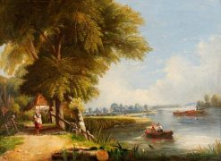 River Thames (possibly near Richmond) | British School th Century   Unknown | Oil Painting