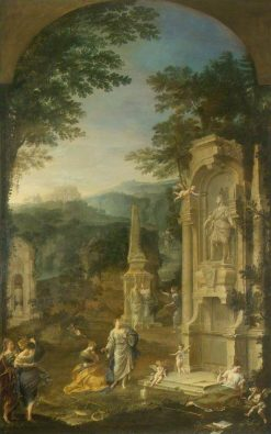 Allegorical Tomb of Joseph Addison (1642-1719)