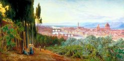 View of Florence from Villa San Firenze | Edward Lear | Oil Painting