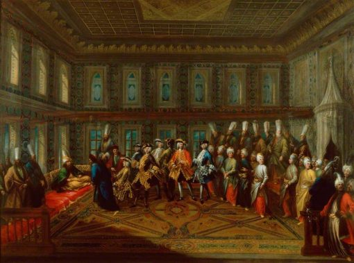 An Audience of a European Ambassador with the Grand Vizir | Giovanni Antonio Guardi | Oil Painting