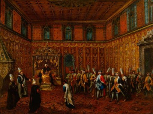 An Audience of a European Ambassador with the Sultan | Giovanni Antonio Guardi | Oil Painting