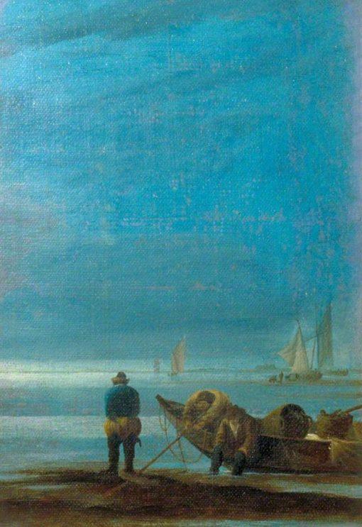 Seascape with Fishermen | Jan van de Cappelle | Oil Painting