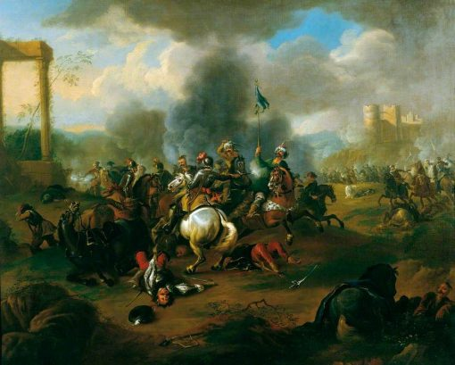 Battle Scene from the Wars of the Ottoman Empire in Europe | Jan van Huchtenburgh | Oil Painting