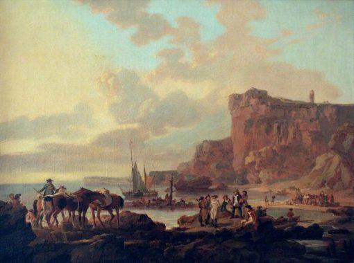 Rocky Coast Scene | Julius Caesar Ibbetson | Oil Painting