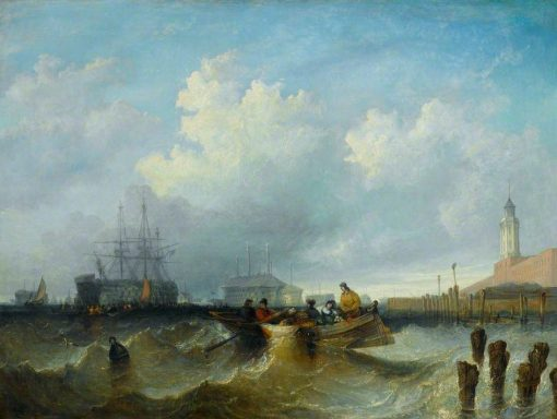 Harbour Scene | William Adolphus Knell | Oil Painting
