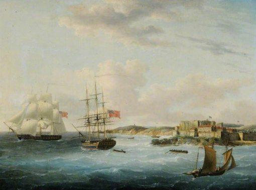 Naval Shipping off Castle Cornet | John Thomas Serres | Oil Painting