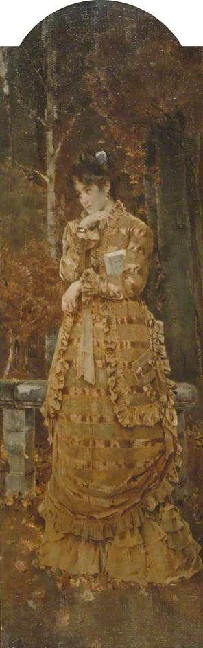 Autumn | Alfred Emile LEopold Stevens | Oil Painting