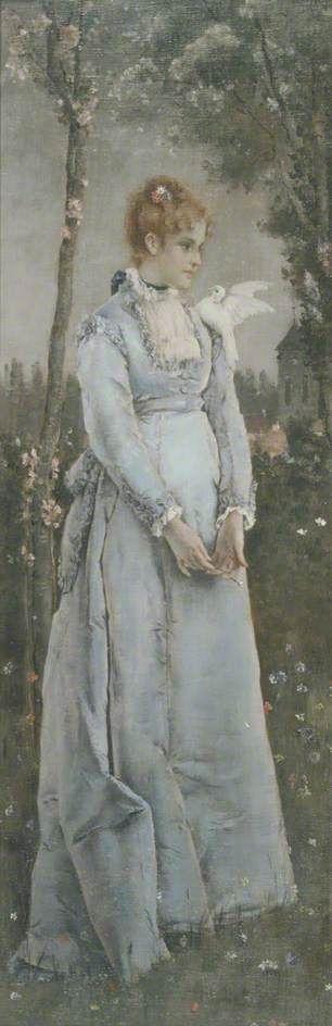 Spring | Alfred Emile LEopold Stevens | Oil Painting