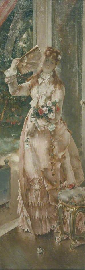 Summer   Alfred Emile LEopold Stevens   Oil Painting