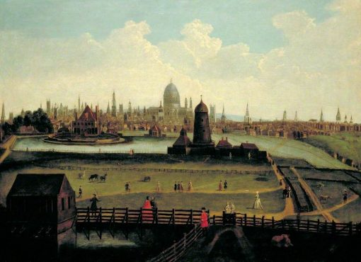 A Prospect of the City of London from the North | British School th Century   Unknown | Oil Painting