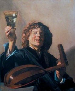 Boy with a Glass and a Lute | Frans Hals | Oil Painting