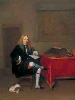 Portrait of Man in His Study | Gerard ter Borch | Oil Painting