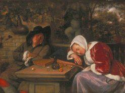 The Sleeping Couple | Jan Havicksz. Steen | Oil Painting