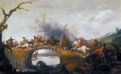 Cavalry Battle on a Bridge | Palamedes Palamedesz I | Oil Painting
