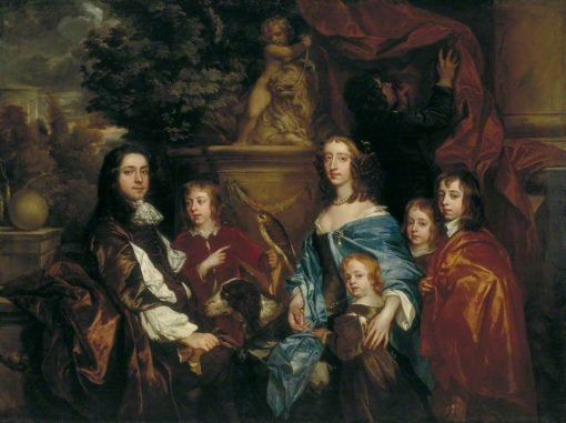 Sir Edward Hales and His Family | Peter Lely | Oil Painting