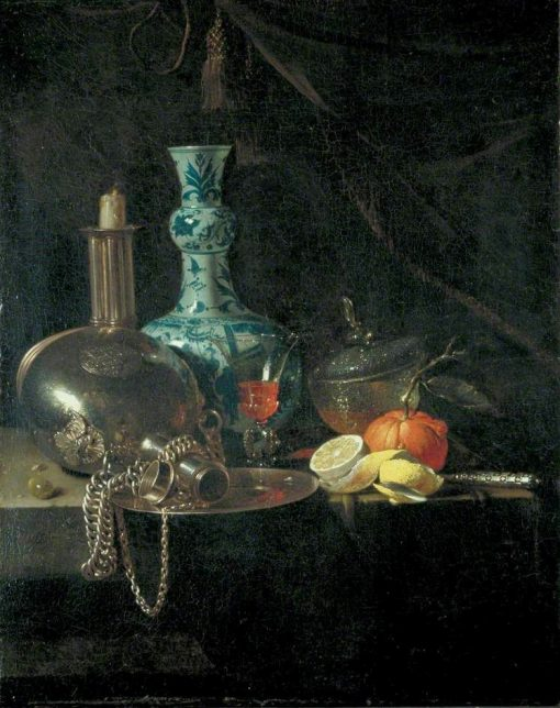 Still Life with a Pilgrim Flask | Willem Kalf | Oil Painting