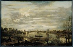 Moonlit River Landscape | Aert van der Neer | Oil Painting