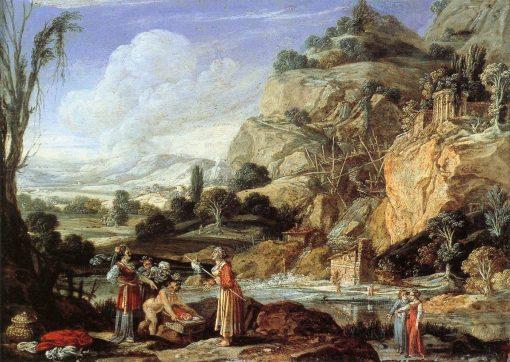Landscape with the Finding of Moses | Bartholomeus Breenbergh | Oil Painting