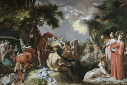 Baptism of Christ   Abraham Bloemaert   Oil Painting