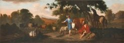 Landscape with Mercury and Battus and Various Animals | Dirck van den Bergen | Oil Painting
