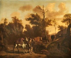 Landscape with a Herdsman Leading a Staling Mule