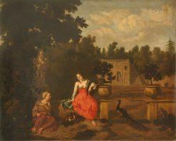 Vertumnus and Pomona in a Garden