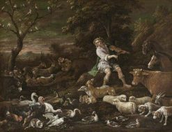 Orpheus Charming the Animals   Francesco Bassano the Younger   Oil Painting