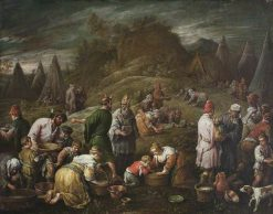 The Israelites Gathering Manna | Francesco Bassano the Younger | Oil Painting