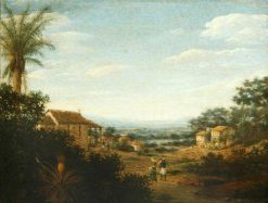 A Village in Brazil   Frans Post   Oil Painting