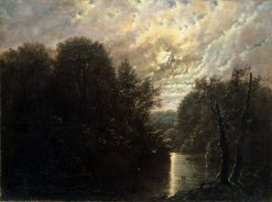 River Landscape in the Rosental near Leipzig | Carl Gustav Carus | Oil Painting