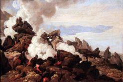 Crater of Vesuvius | Franz Ludwig Catel | Oil Painting