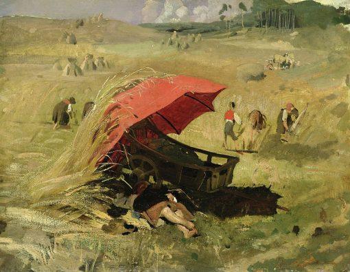 The Red Umbrella | Franz von Lenbach | Oil Painting
