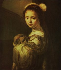 Girl in a Fantasy Costume | Govaert Flinck | Oil Painting