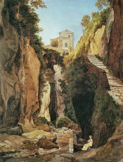 A Ravine in Sorrento | Heinrich Carl Reinhold | Oil Painting