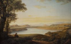 View of the Tiber at the Source of Acqua Acetosa overlooking the Site of the Ancient Fidenae | Johann Christian Reinhart | Oil Painting