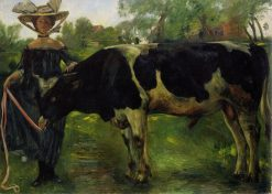 Girl with Bull | Lovis Corinth | Oil Painting