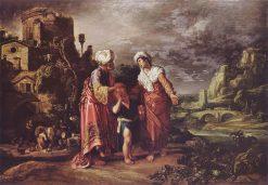 Hagar's Farewell | Pieter Lastman | Oil Painting