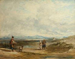 Welsh Peasants Returning from Market: Scene near Barmouth | William Collins | Oil Painting