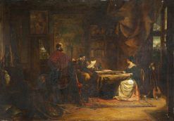 Elizabethan Interior: The Court Messenger | William James Muller | Oil Painting