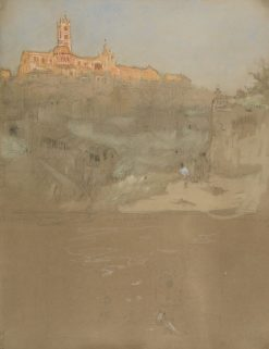 Sketch of Siena (unfinished) | Albert Goodwin | Oil Painting