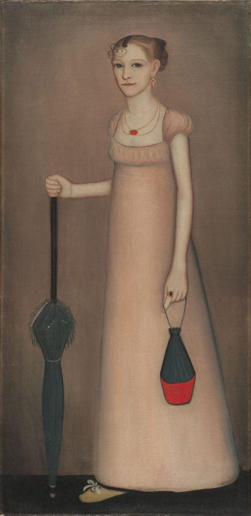 Harriet Leavens (1802-1830)   Ammi Phillips   Oil Painting