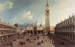 Piazza San Marco with the Basilica | Canaletto | Oil Painting