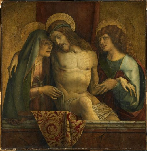 The Dead Christ between the Virgin and Saint John the Evangelist | Carlo Crivelli | Oil Painting