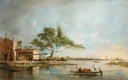 The Isola della Madonetta in the Lagoon | Francesco Guardi | Oil Painting