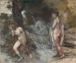 Nude Women in a Landscape | Hans von MarEes | Oil Painting