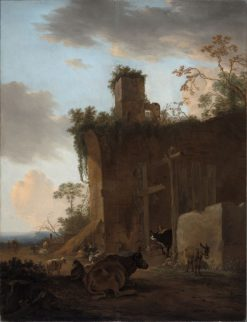 Italianate Landscape with Drovers