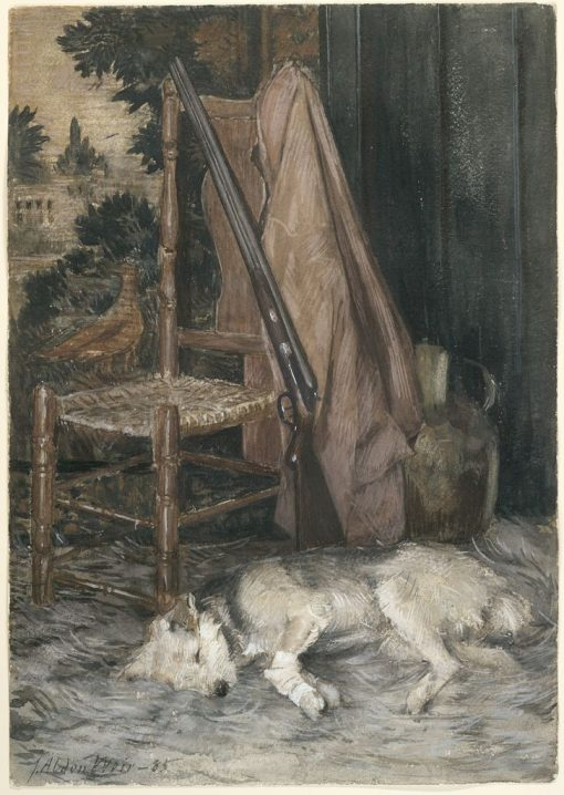 The Wounded Dog | Julian Alden Weir | Oil Painting