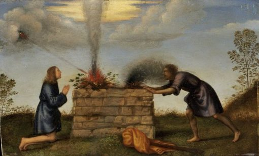 The Sacrifice of Cain and Abel | Mariotto Albertinelli | Oil Painting